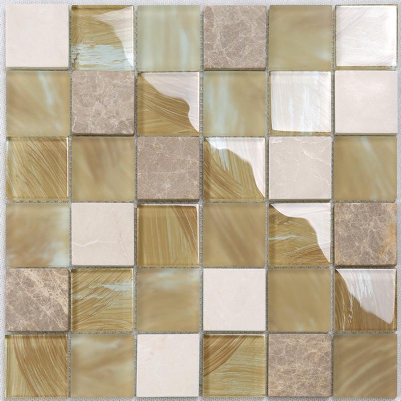 YMS20 Küche Wand dekorative Mattglas gemischte Marmor Stein ...